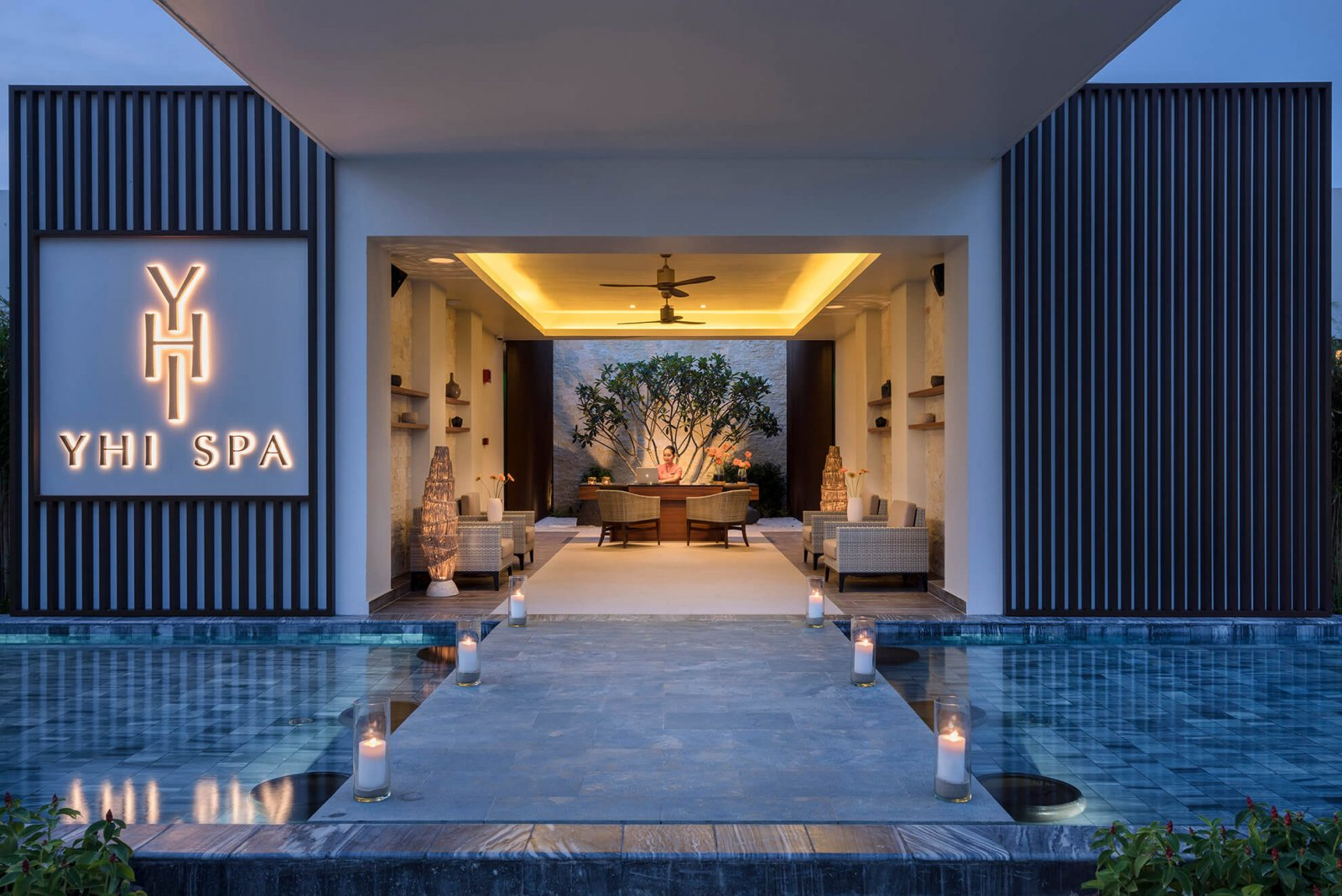 Entrance to the Yhi Spa at the Melia Ho Tram