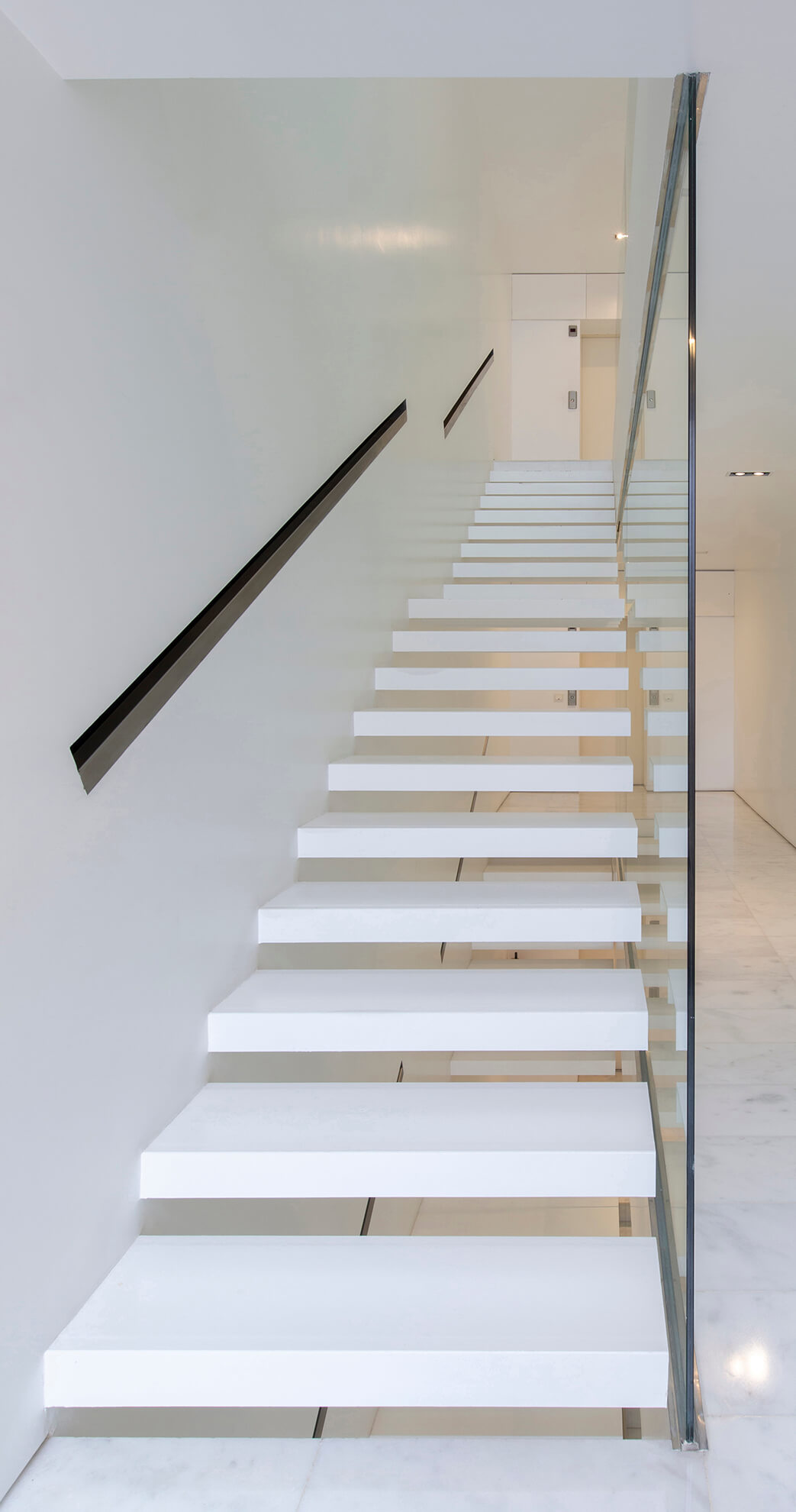 Detail view of the stairs of the residence