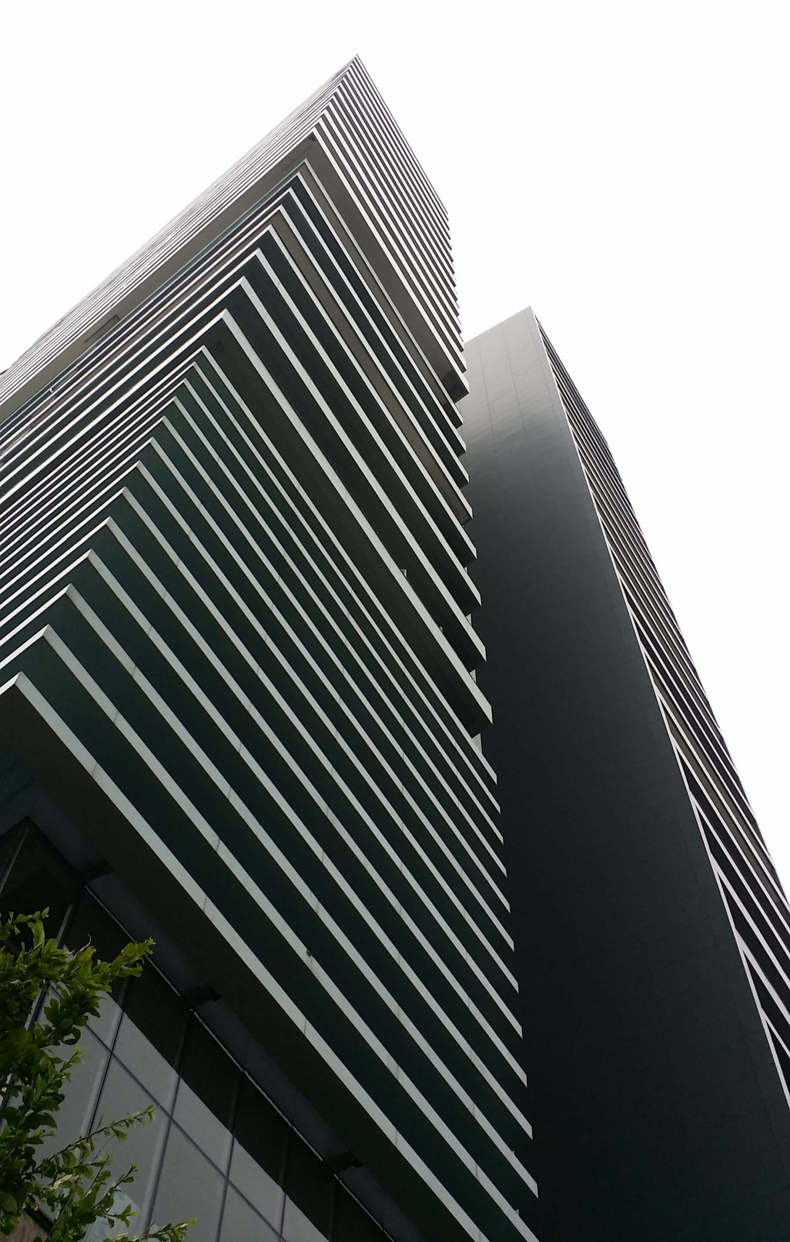 Low angle image of the facade of the tower Hei