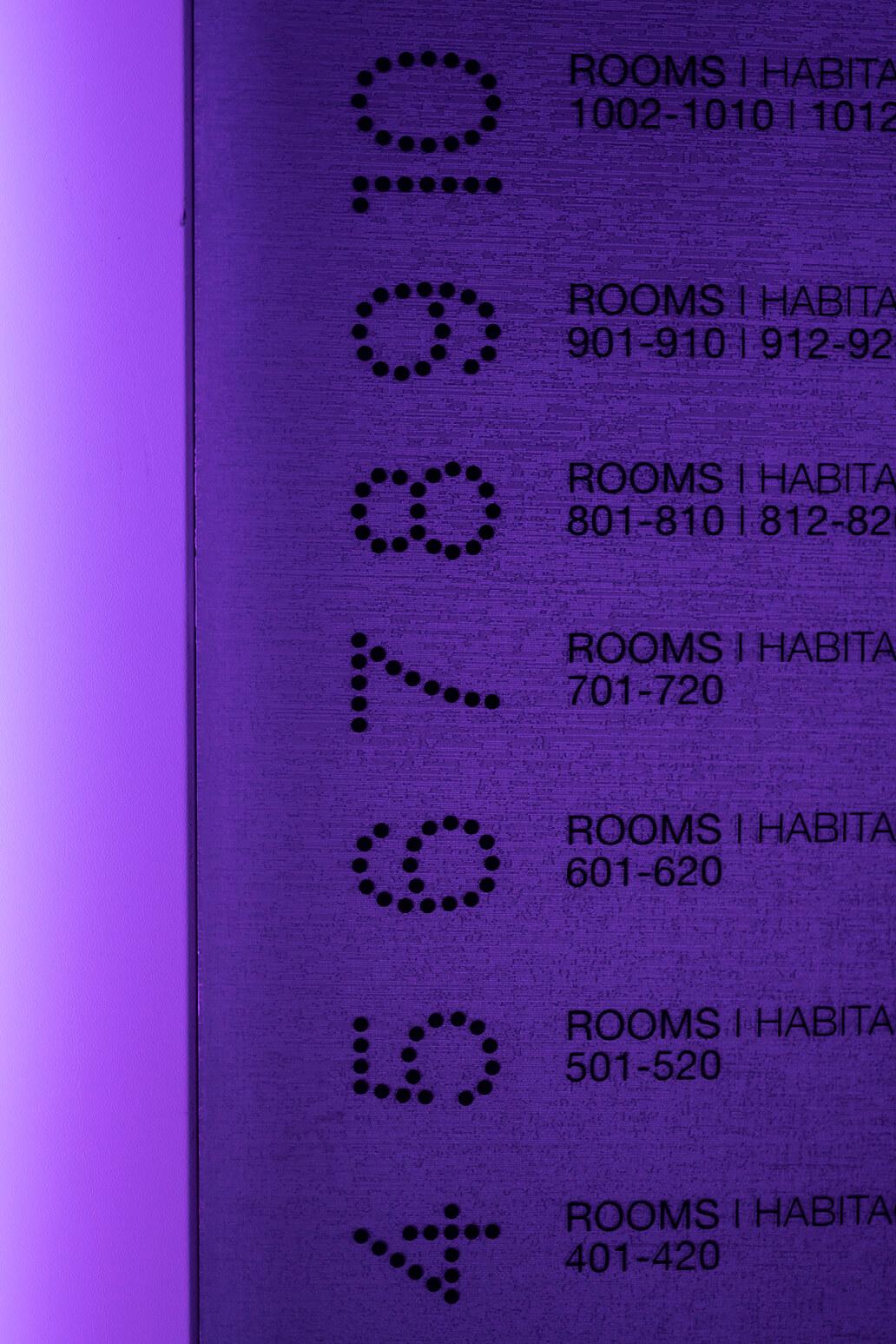 Detail view of door of the raval hotel