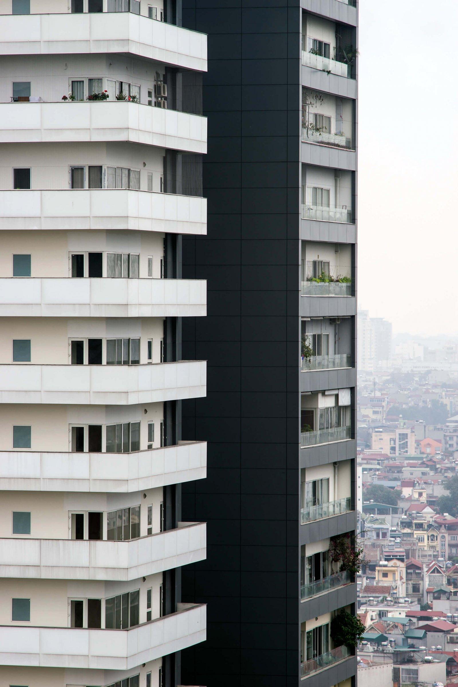 Tower facade